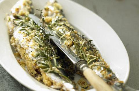 Жареные сардины с аргановым маслом и розмарином