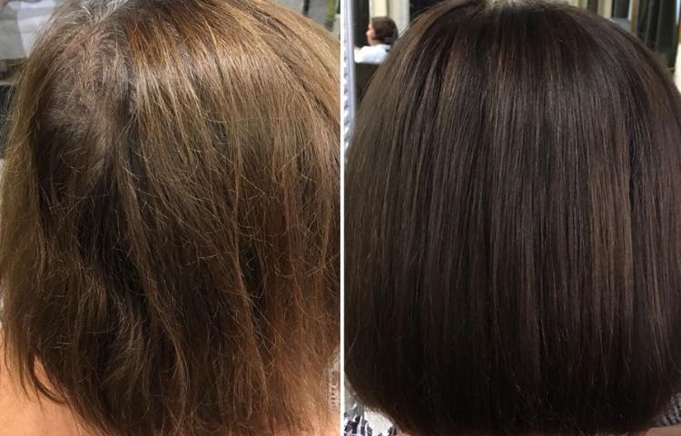 Темно-коричневая хна и 70% седины