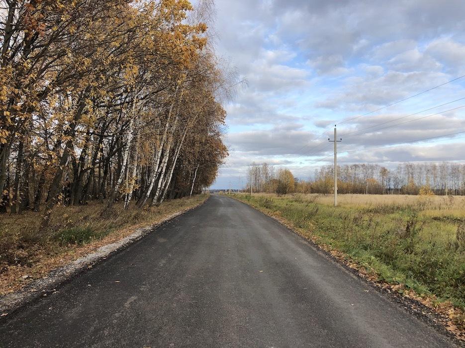 Отличная асфальтированная подъездная дорога к «Романовскому Парку»