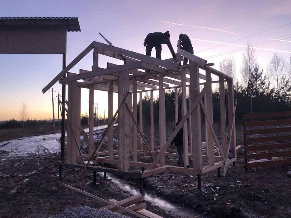 Фотоотчет о строительстве КПП в «Усадьбе Романово»