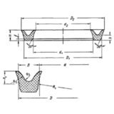 ГОСТ 6969-54 Манжеты уплотнительные резиновые для гидравлических устройств