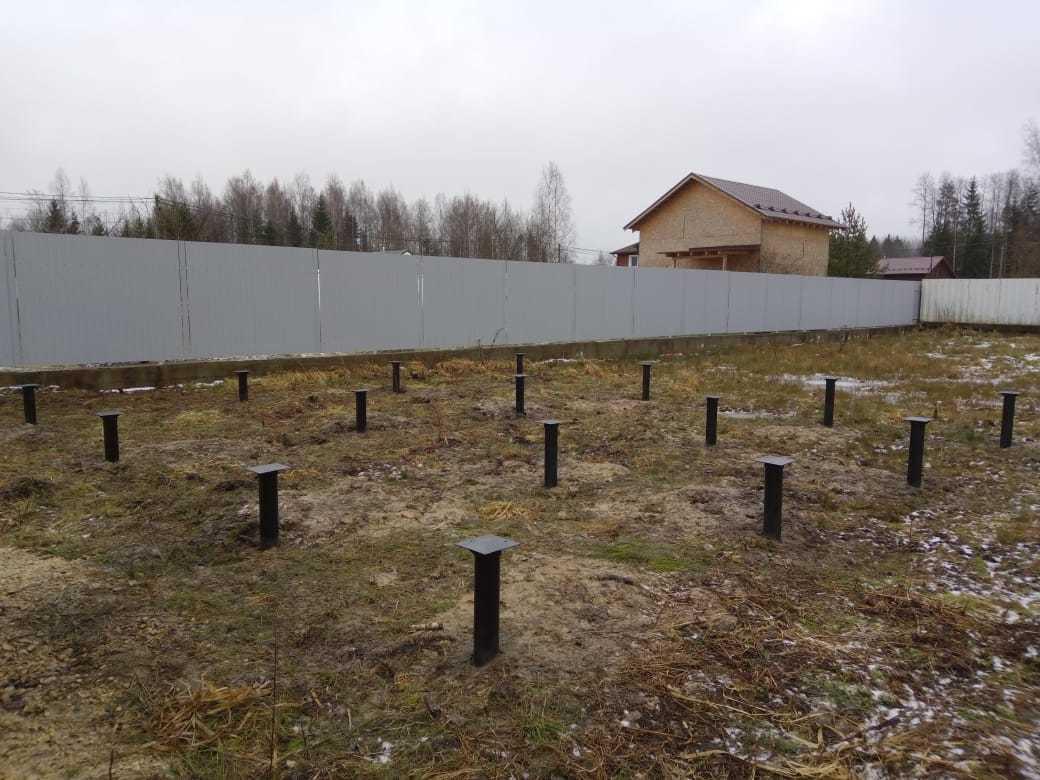 Монтаж свайного фундамента в Красницах