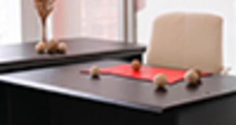 Кожаный бювар на столе в приемной руководителя – это стильно и практично.
