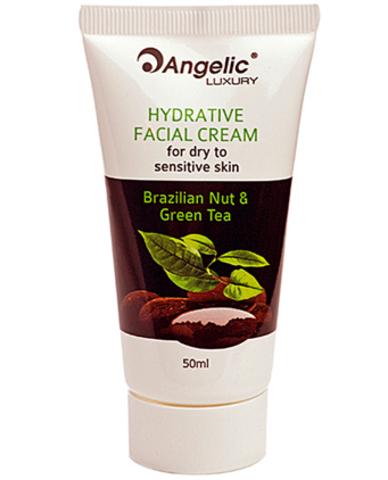 Обзор Увлажняющего крема для сухой и чувствительной кожи лица «Бразильский орех и Зеленый Чай» Angelic Luxury, 50мл