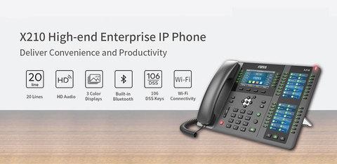 Fanvil выпускает новый корпоративный IP-телефон High-End класса X210