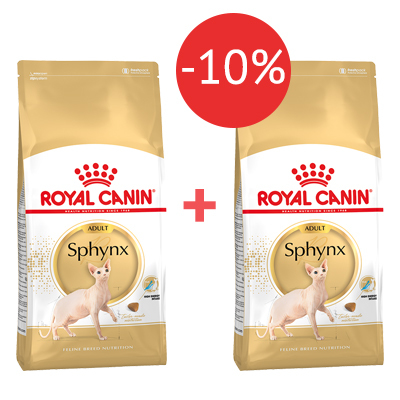 Корм для сфинксов Royal Canin 2 кг + 2 кг - 10%