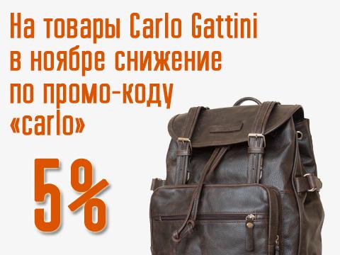 Весь ноябрь скидка по промо-коду на бренд Carlo Gattini