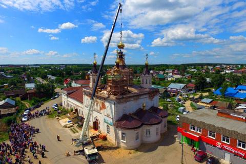 На Храм Николая Чудотворца установлен Купол