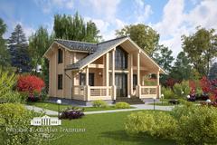 Проекты двухэтажных домов «Вилла» в современной стилистике