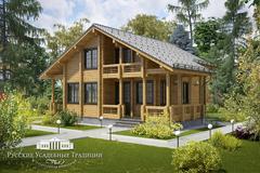 Проекты домов «Шале» из бруса