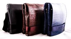 Мужские кожаные сумки-планшеты через плечо