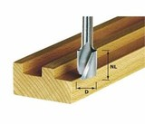 Фрезы пазовые спиральные HS, с нижней режущей кромкой, хвостовик 8 мм