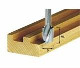 Фрезы спиральные пазовые твердосплавные HW, с нижней режущей кромкой, хвостовик 8 мм