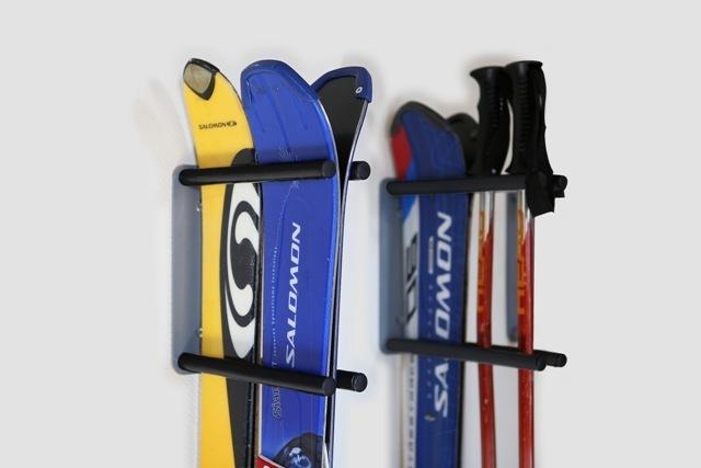 Крепления для хранения лыж и сноубордов на стену