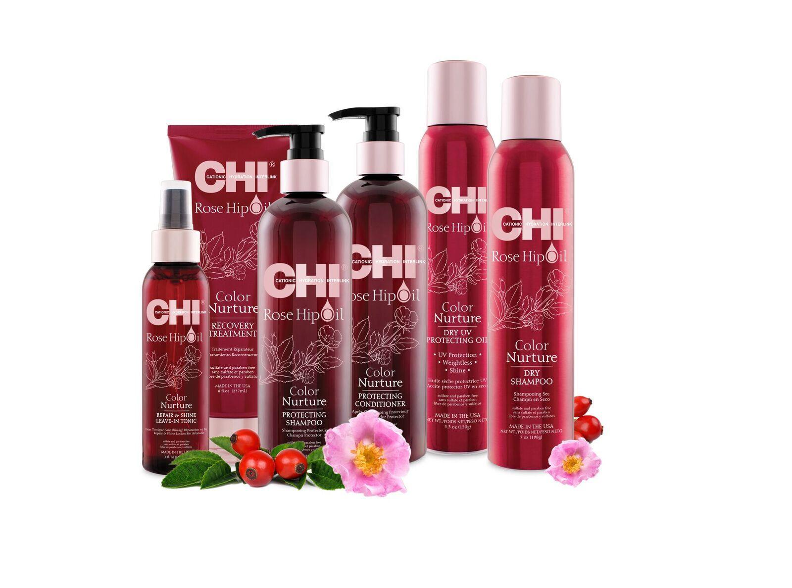 CHI ROSE HIP OIL COLOR NURTURE / Линия для окрашенных волос с маслом шиповника
