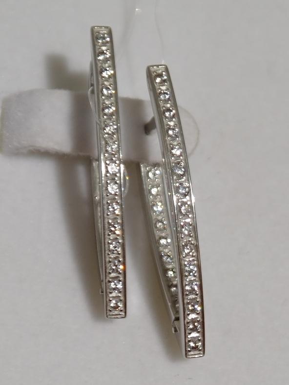 Серебряные серьги конго