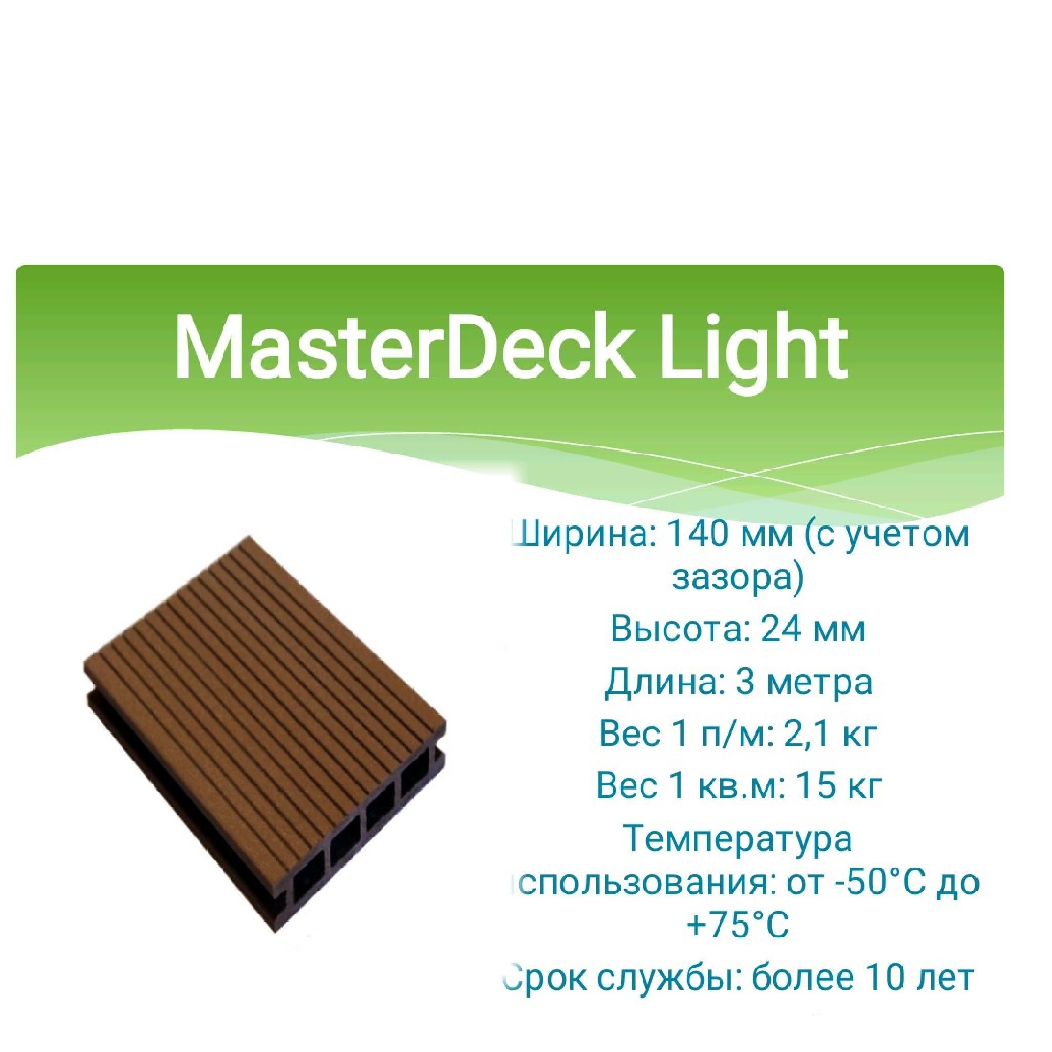Террасная доска MasterDeck LIGHT