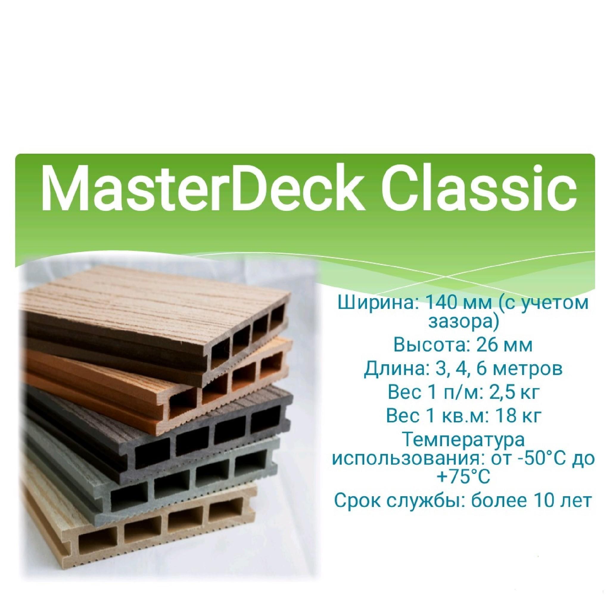 Террасная доска MasterDeck CLASSIC