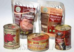 Консервированные мясные продукты