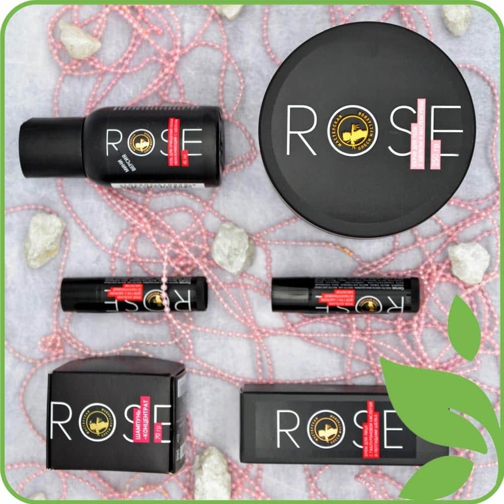 Серия Rose с шелком и маслом розы