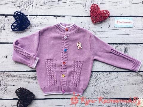 Вязаные жакеты и свитера для девочек