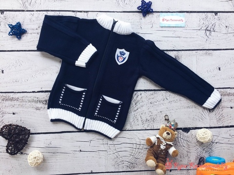 Вязаные жакеты и свитера для мальчиков