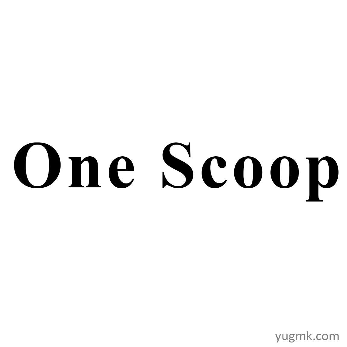 ONE SCOOP
