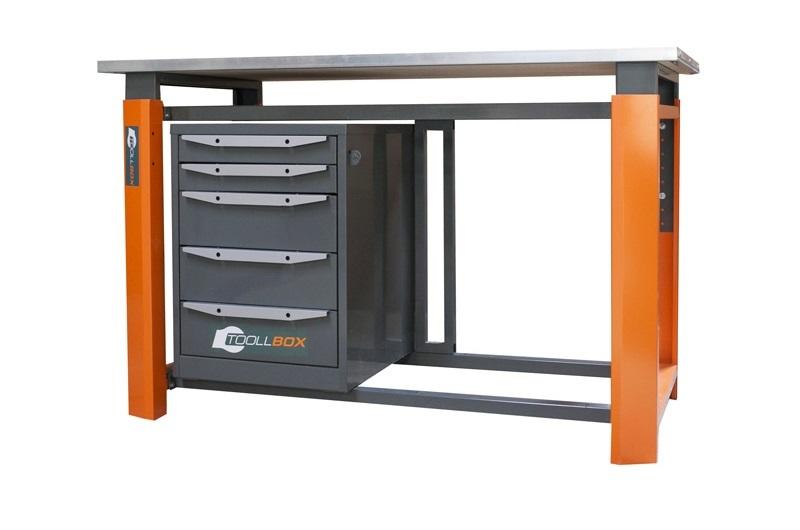 Складной металлический стол, столешница 1000 х 600 мм