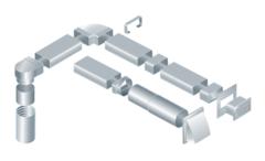 Пластиковые воздуховоды и фасонные детали
