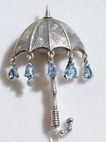 Серебряные броши и булавки
