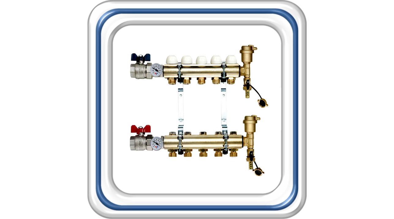 Коллектор Tiemme  для радиаторного отопления