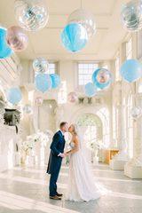 Оформления шариками свадеб