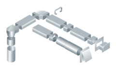 110х55 мм. Прямоугольное сечение