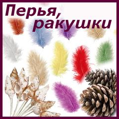 Ракушки, перья, шишки