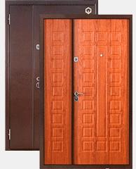 Входные двери двустворчатые