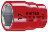 Электроизолированные VDE торцевые головки и трещеточные ключи KNIPEX