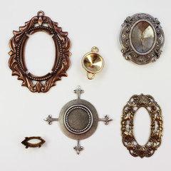 Сеттинги-основы для стразов, кабошонов и камей