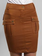 5699-3 юбка коричневая
