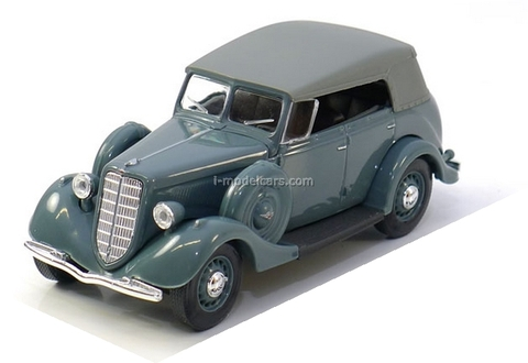 GAZ-M1 Phaeton with awning gray 1:43 Nash Avtoprom