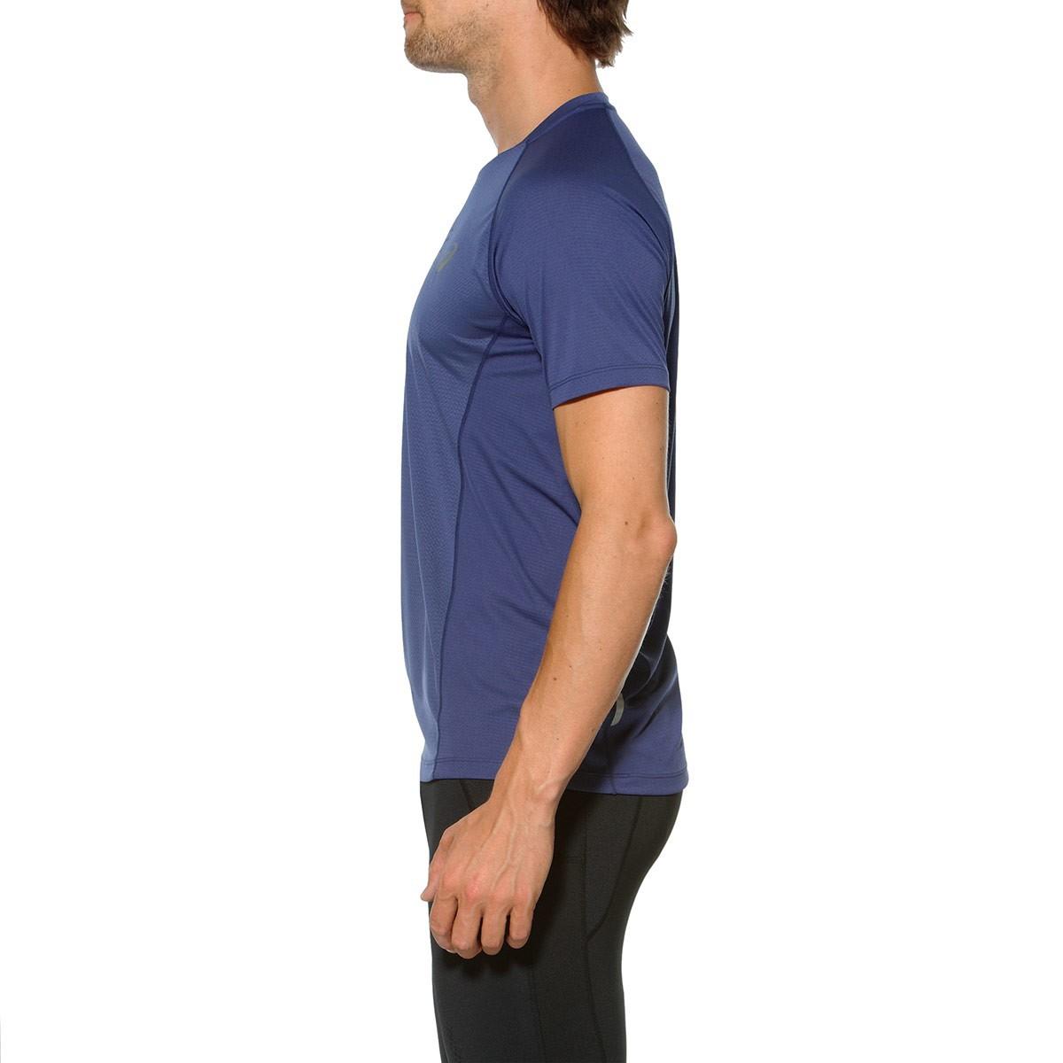 Мужская беговая футболка Асикс FujiTrail Ultra Top (130006 8133) синяя фото