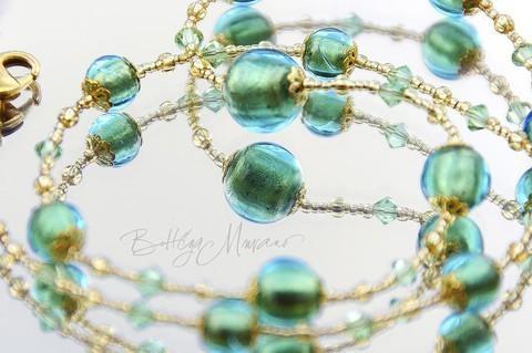 Комплект Примавера изумрудный (серьги, ожерелье, браслет)