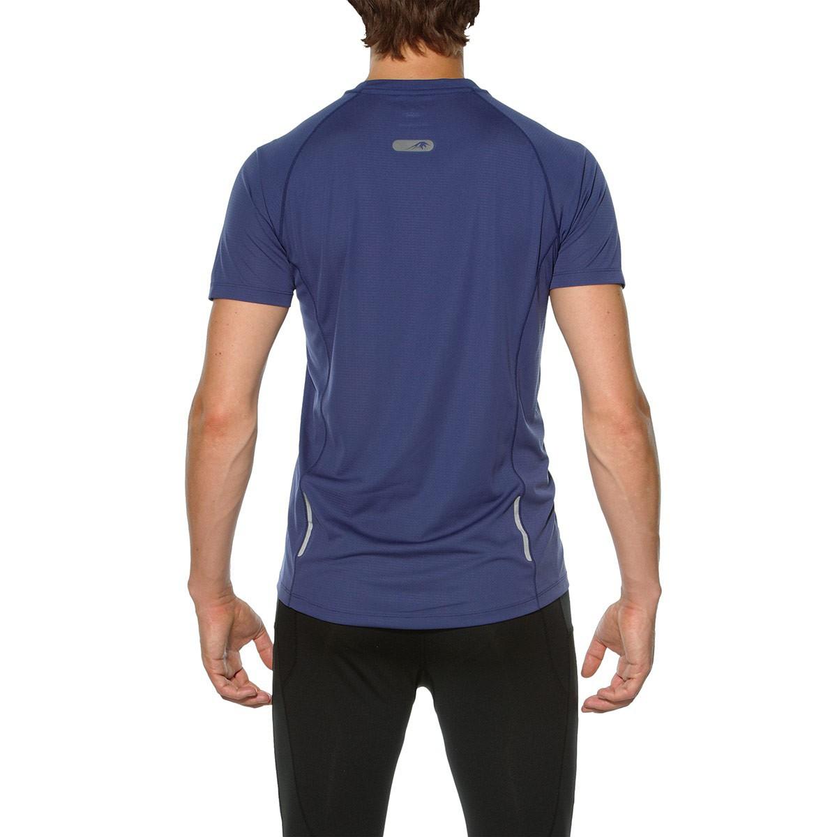 Мужская беговая футболка Asics FujiTrail Ultra Top (130006 8133) синяя фото