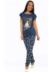TK411 костюм женский (футболка+штаны), синие