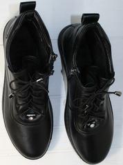 Сникерсы женские черные Evromoda 375-1019 SA Black