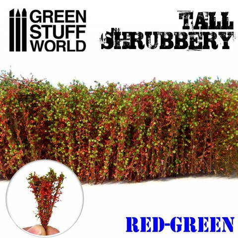 Tall Shrubbery - Red/Green