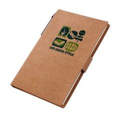 Блокнот, Lejoys, Recycled, в комплекте со стикерами и шариковой ручкой, 107*155 мм
