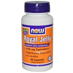 NOW Royal Jelly (1500mg) (60 caps.)