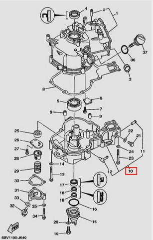 Картер для лодочного мотора F5 Sea-PRO(4-10)