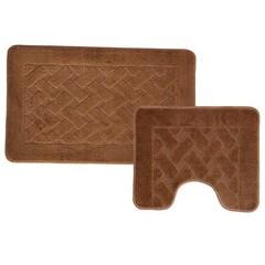Набор ковриков для ванной BANYOLIN 55х90 см ворс, коричневый