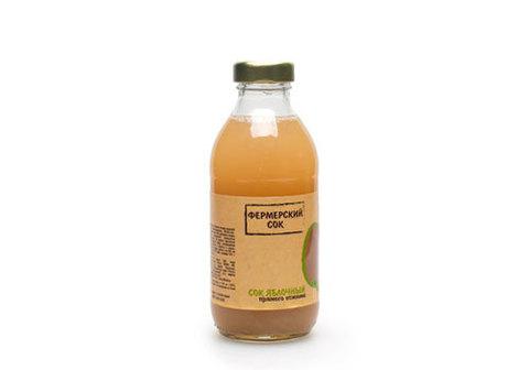 Сок фермерский яблочный, 315мл